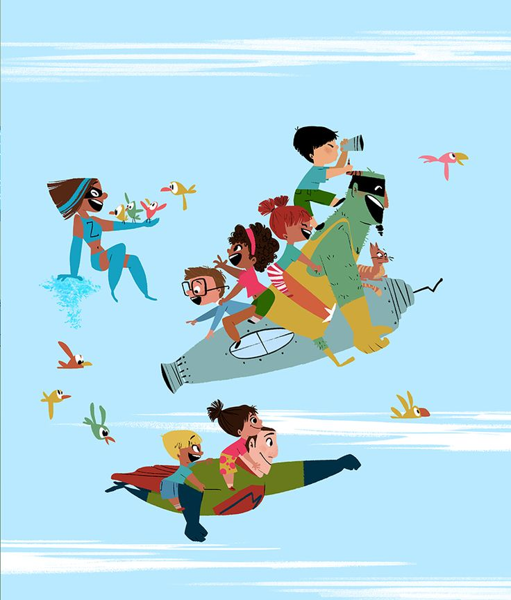 Another revealed page from Even Superheroes Have Bad Days where our superheroes doing good deeds and giving the kids a ride thru the sky. I'm telling you, they aren't always this well-behaved. Tho they should! Written by Shelly Becker, published by...