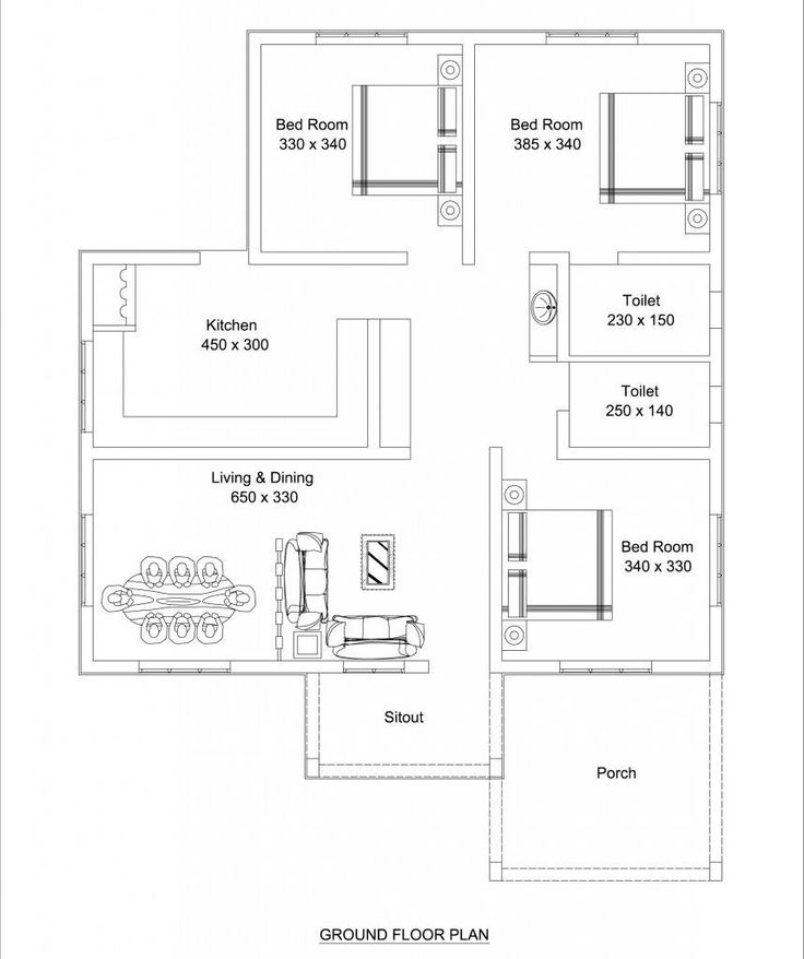 Low Cost 3 Bedroom Modern Kerala Home Free Plan, Budget 3