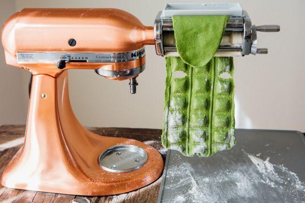 Verwenden Sie Ihren Kitchenaid Pasta Roller Und Ravioli Maker Um