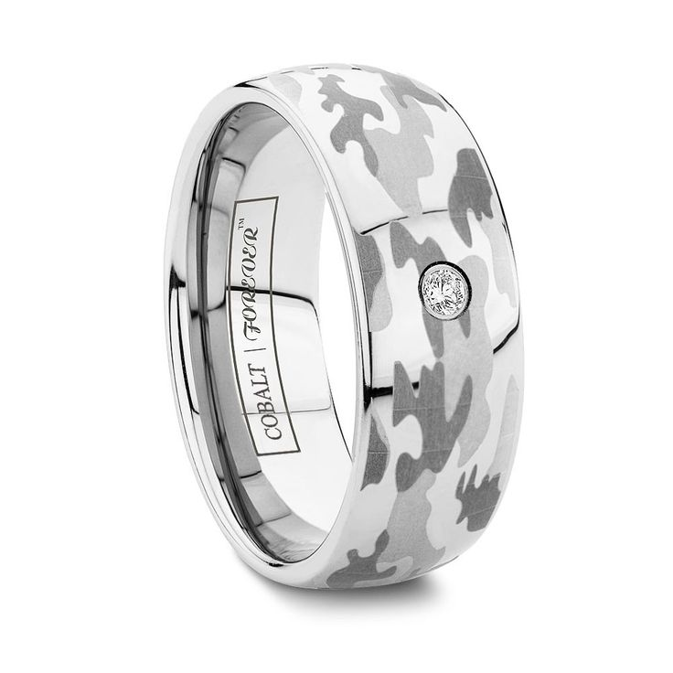 Best SQUADRON MM MM Stand out from the rest a diamond ring that us as rugged as Camo Wedding