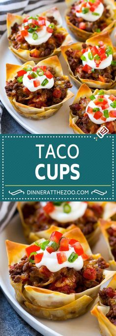 Taco Cups Recipe | Wonton Taco Cups | Taco Cupcakes | Mexican Appetizer