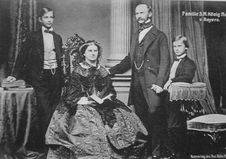 L to R: Ludwig II, Marie of Prussia, Maximilian II, Otto - of Bavaria