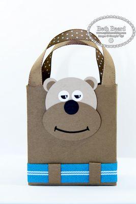 Stampin' Up!  Fancy Favor Box  Beth Beard  Bear Punch Art