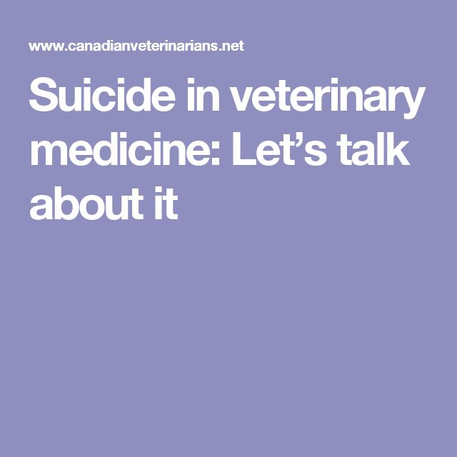 Suicide in veterinary medicine: Let's talk about it #VetTechLife