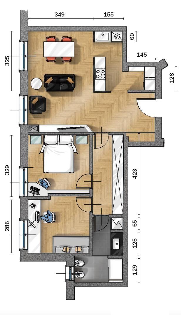 70 Mq Da Bilocale A Trilocale Con I Costi Della Ristrutturazione Cose Di Casa Nel 2020 Piantine Di Case Planimetrie Di Case Planimetrie Dell Appartamento