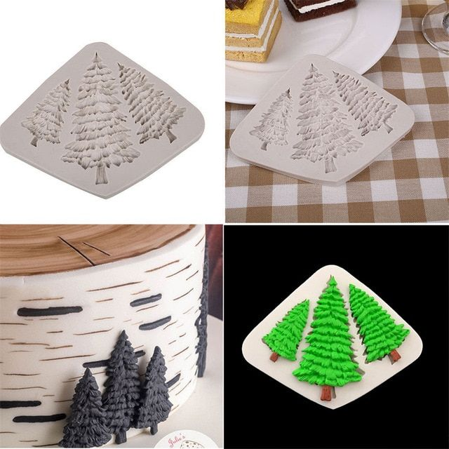 New Diy Chocolate Christmas Tree Leaves Shape Cake Decor Mould Silicone Fondant Mold Cake Baking Candy Decoration Tools Supplies Review Chocolate Tree Fondant Silicone Molds Christmas Chocolate