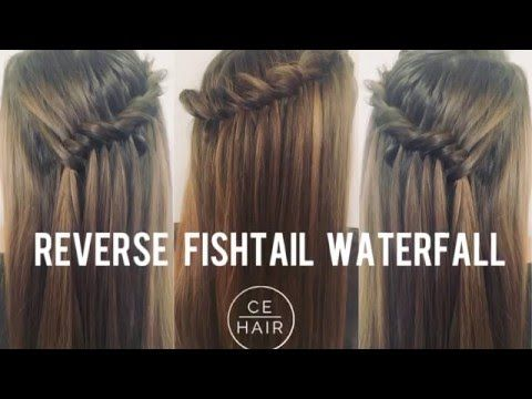 How to do a reverse fishtail waterfall braid | CE Hair original braid - YouTube