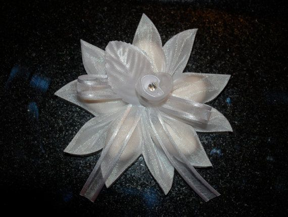 Confetti Flower/Ribbon Flower by AthenasFavorMeAlways on Etsy, $3.75