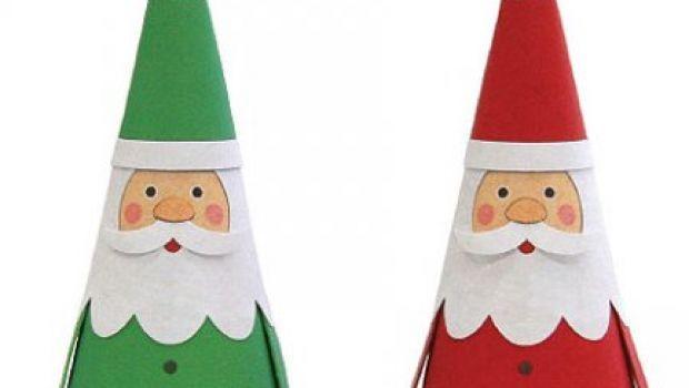 Decorazioni per l'albero di Natale fai-da-te: con la carta costruite Babbo Natale, il pupazzo di neve e le renne
