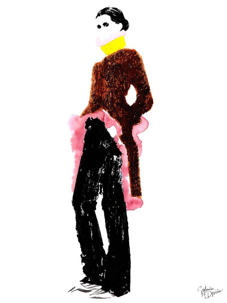 Givenchy Pre-fall 2017  Sylwia Dębicka  #fashion #illustration #givenchy #painting #art #contemporary #paris #vogue #drawing #fashionsketch #fashionillustration