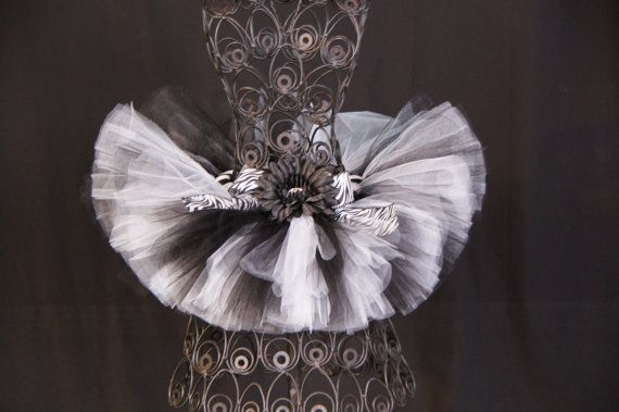 Zebra tutu   Black and White tutu by OneCharmingBoutique on Etsy, $21.50