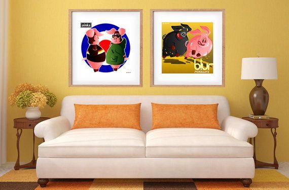 DOWNLOAD ISTANTANEO. Poster Oinks colori Arte da di julioroberts