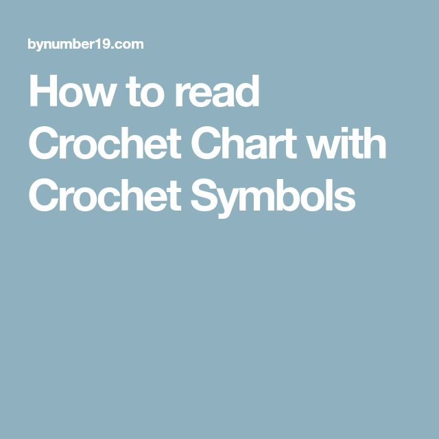 crochet symbols and directions chart