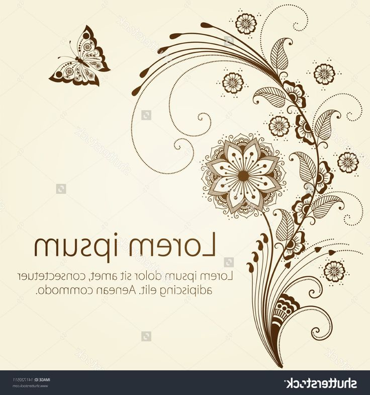 Excellent Abstract Floral Vector Design Design: Top Stock Vector Vector Abstract Floral Elements In Indian Mehndi Style Abstract Henna Floral Vector Illustration Picture