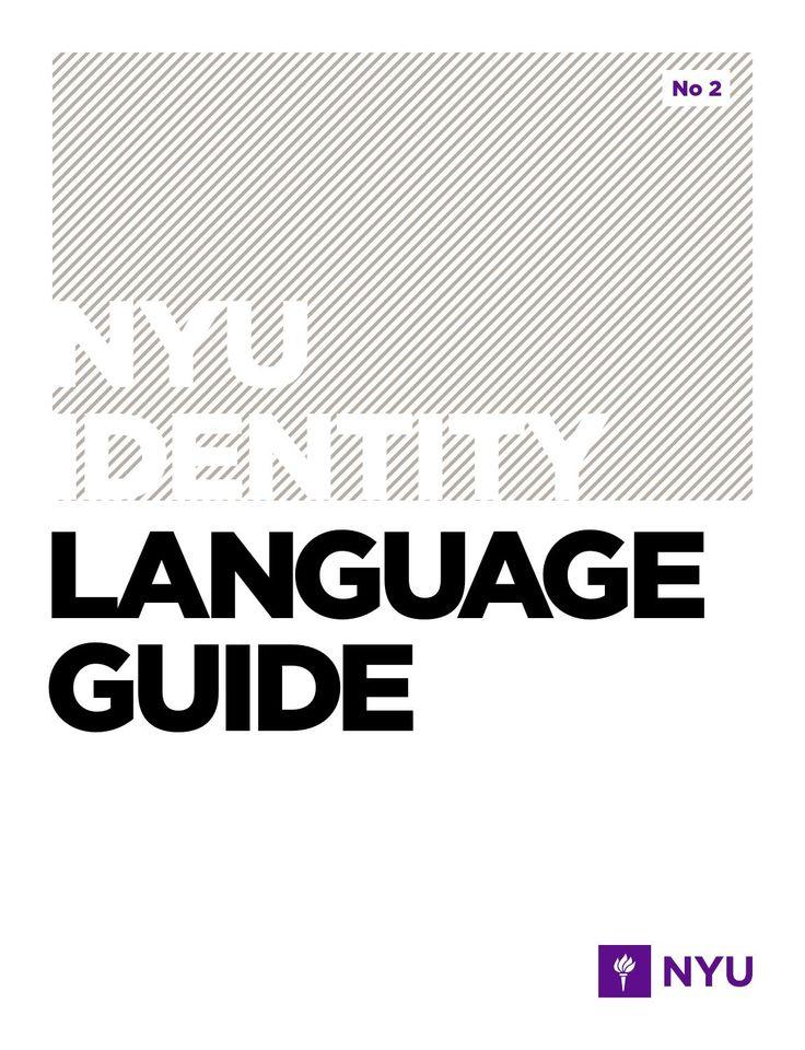 NYU Identity: Language Guide