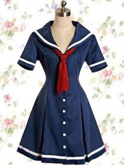 d'un bleu profond classique lolita robe