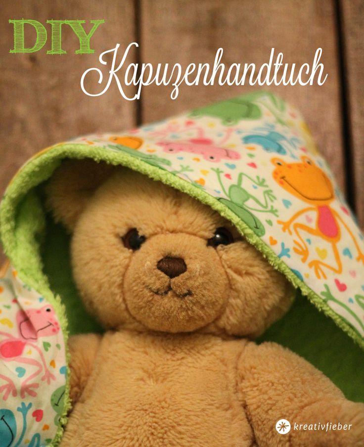 DIY: Ein Baby Kapuzenhandtuch lässt sich ganz schnell selber machen und ist ein tolles Geschenk zur Geburt! Wir zeigen Schritt für Schritt wies geht!