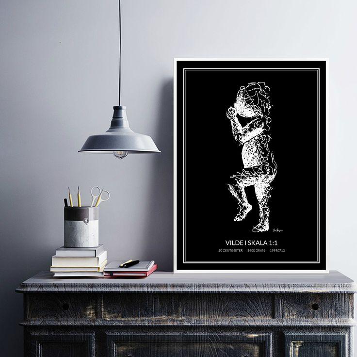 Poster 2, white/black