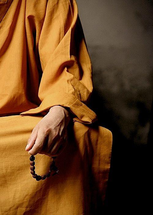 Meditation in saffron