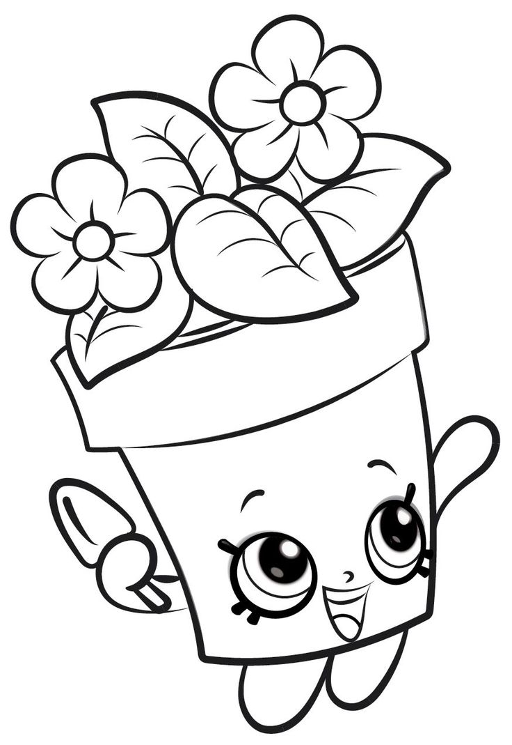 Shopkins coloring pages kook cookie - Coloring Page Shopkins Shopkins 19
