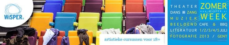 WiSPER - artistieke cursussen voor 18+ - dans - muziek - theater - beeldende kunsten - audiovisueel - literatuur