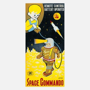 Space Commando Print 10x22 now featured on Fab. [Robot, GlobalGallery.com]