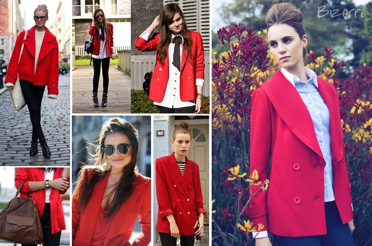 Street Trend:   17. Chaqueta Oversized Roja