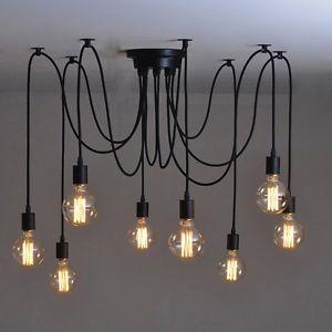 industrial chandelier | Vintage-Industrial-DIY-Pendant-Ceiling-Lights-Kitchen-Chandelier ...