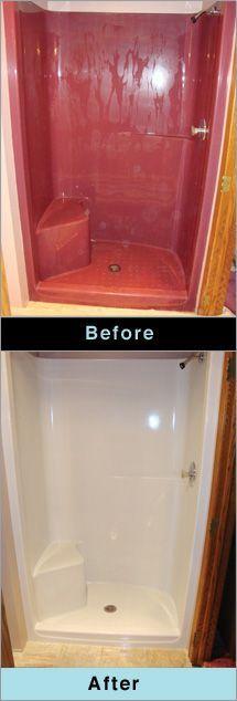 Before and After Fiberglass Bathtub Refinishing Minneapolis