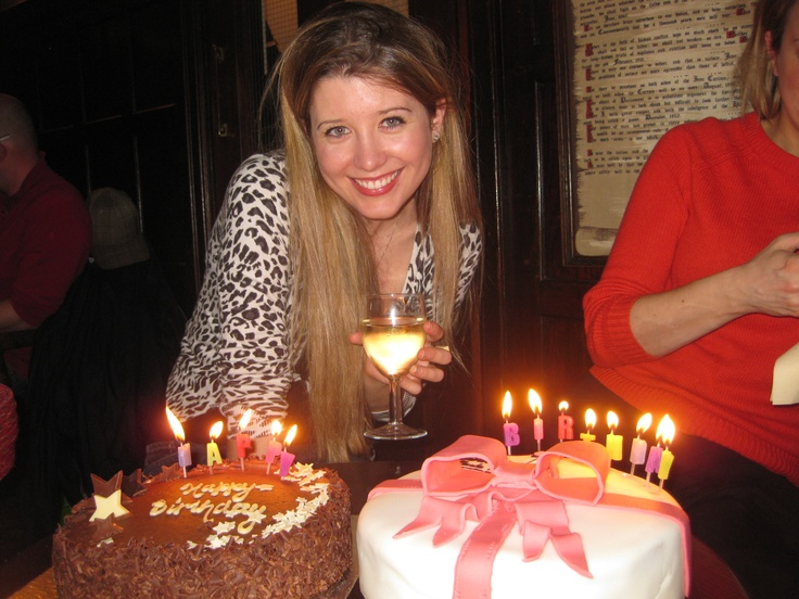 Gorgeous Paula after being surprised withnot only one birthday cake but two...very lucky girl x