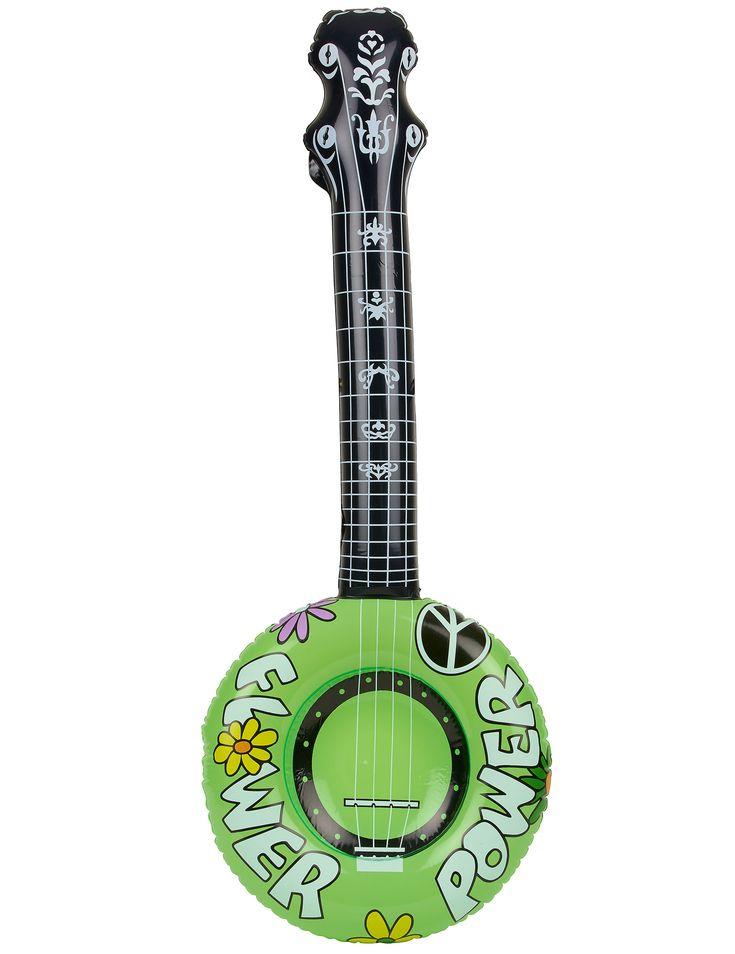 Questo banjo gonfiabile da hippie è disponibile in 3 colori differenti : verde, rosa e arancione.  Grazie a questo banjo colorato gonfiabile, potrai accessoriare al meglio il tuo look in occasione di una gioiosa festa in spiaggia!