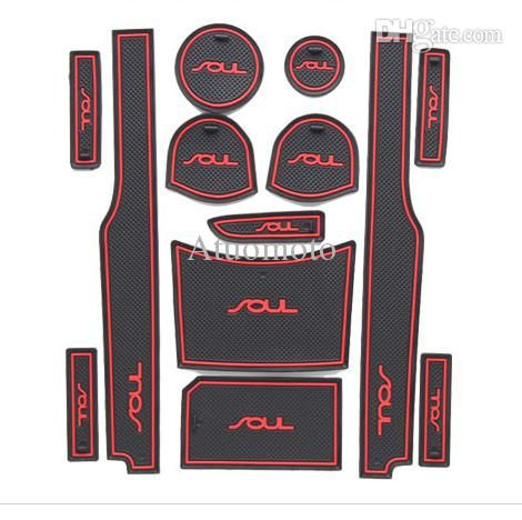 Online Cheap Wholesale 2010 2015 Kia Soul Silicone Glow Gate Slot Pad,Teacup Pad,Non Slip Pad Fit Car Accessories By Atuomoto | Dhgate.Com