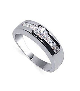 td5710-9 Nickel Free Tarnish Free Sterling Silver Clear Cubic Zirconia Polished Rhodium Plated 7mm Band Mens Ring Size 9  http://electmejewellery.com/jewelry/mens-jewelry/mens-rings/td57109-nickel-free-tarnish-free-sterling-silver-clear-cubic-zirconia-polished-rhodium-plated-7mm-band-mens-ring-size-9-com/
