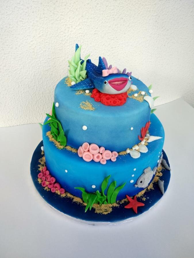 Shark lady - Cake by nef_cake_deco