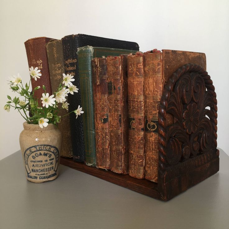 Antique Victorian Book Slide, Hand Carved, Folding Shelf, Books Ends, Decorative, Collectible by Papillonpieces on Etsy
