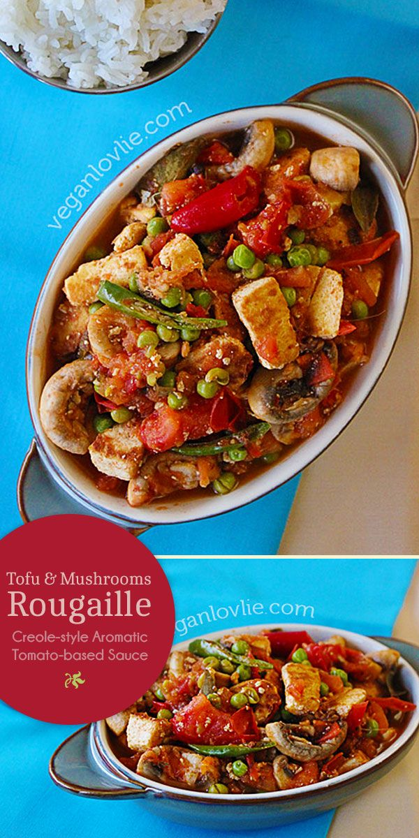 Tofu and Mushrooms Rougaille A simple Creole style