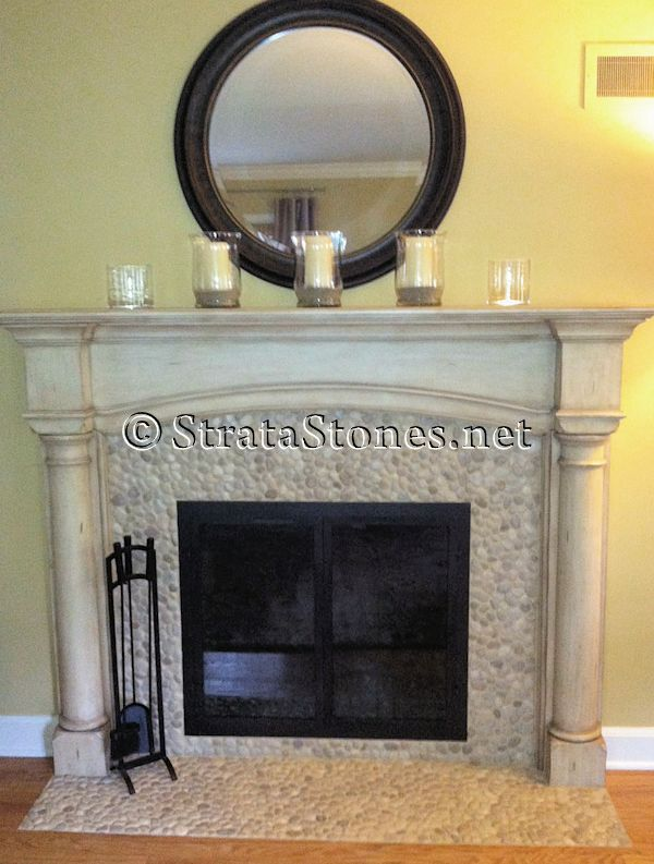 This fireplace surround is cheap and ugly home for Cheap wooden fireplace surrounds