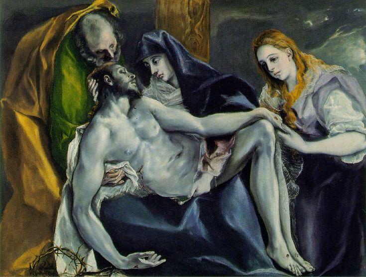 El Greco (1541-1614) - Pietà, oil on canvas, circa 1592 | Stavros Niarchos Collection, Paris, France