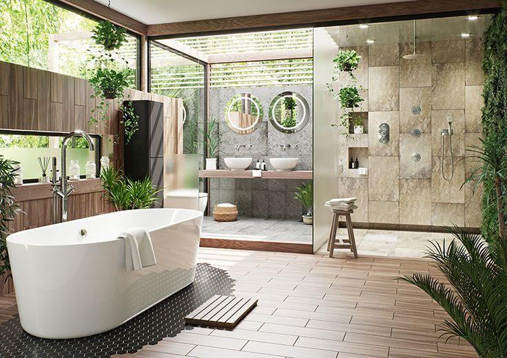 Tropical bathroom - VictoriaPlumb.com