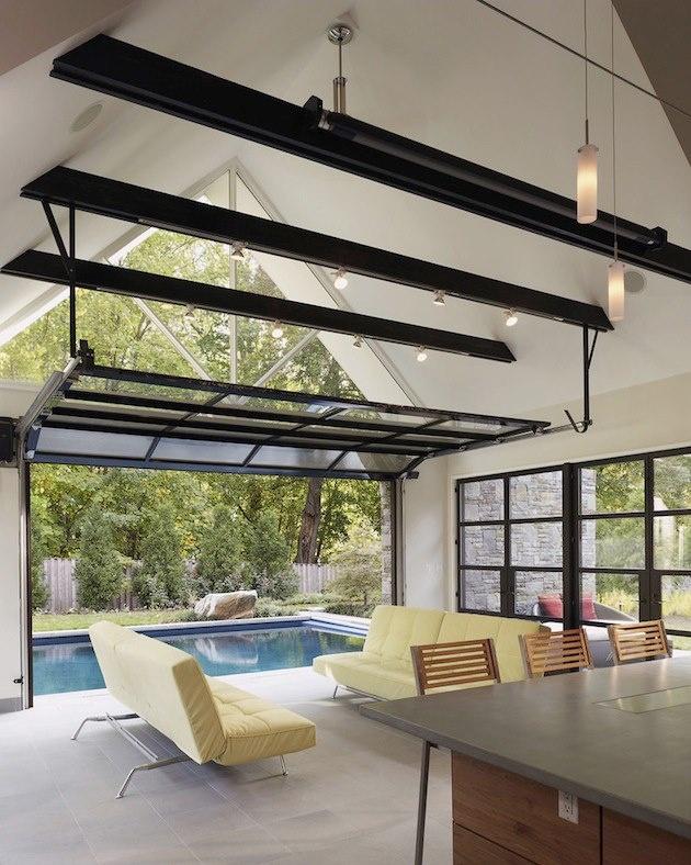 pool house w garage door pool houses pinterest
