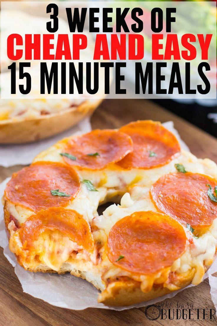 three Weeks of Low cost Dinners, prepared in below 15 minutes