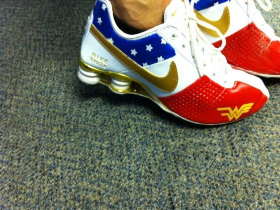 Our humor columnist's shoe obsession includes these wonder woman kicks