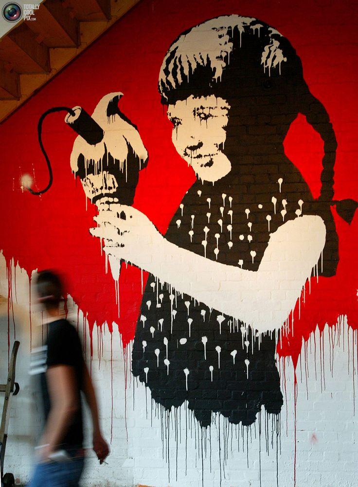 Dynamite Ice Cream, London, Banksy