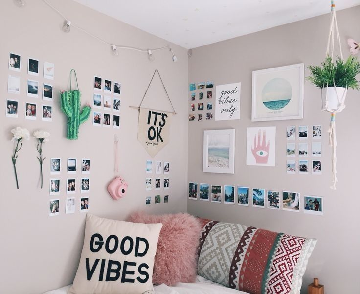 Best Polaroid Wall Ideas On Pinterest Room Lights Bedroom Pertaining To Wall Ideas For Bedroom Pinterest Dorm Room Decor Cute Bedroom Ideas Wall Decor Bedroom