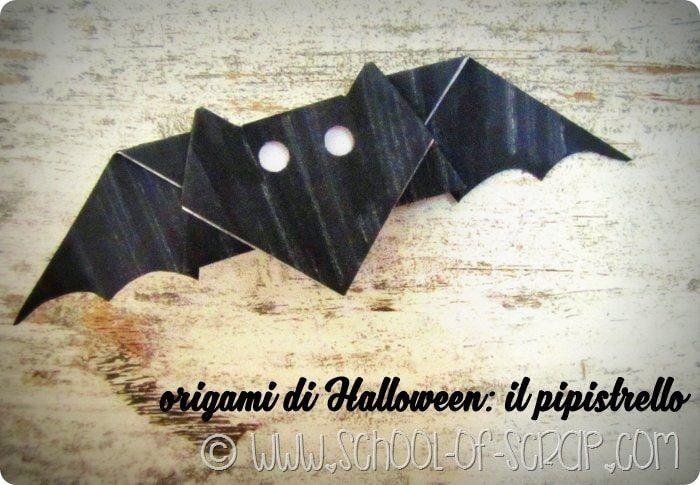 Sono qui che sto pensando alle decorazioni per Halloween come ogni anno, comincio con il modello di un pipistrello fatto con la tecnica dell'origami che è an
