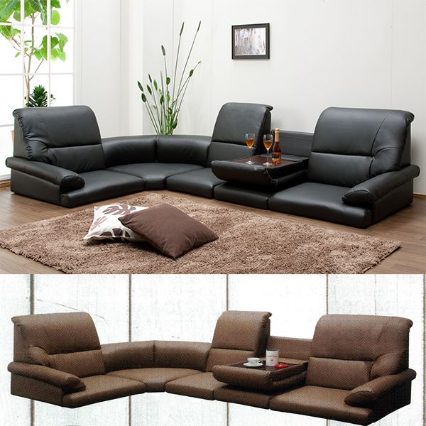 Sofa Corner Sofa 5 Point Set Low Type From Sofa Roof Sitting Sofa Table  With Synthetic
