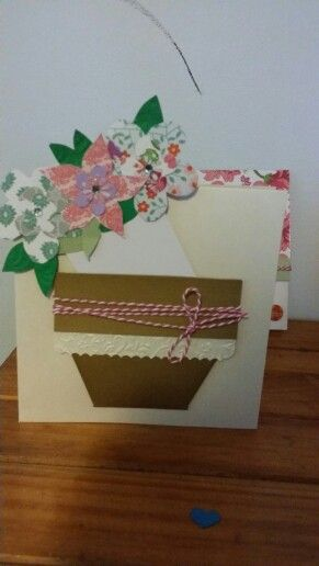 Mother day card. Note pull out. 100% handmade