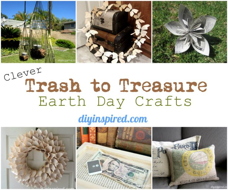 clever trash to treasure earth day crafts recycled crafts pinterest crafts projects and. Black Bedroom Furniture Sets. Home Design Ideas