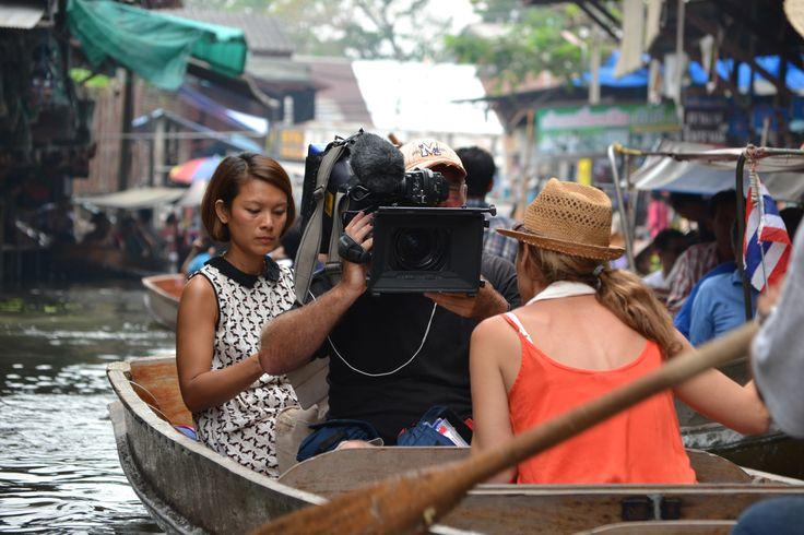#OnLocation #BehindTheScenes Floating Markets #Bangkok #Thailand #PlacesWeGo