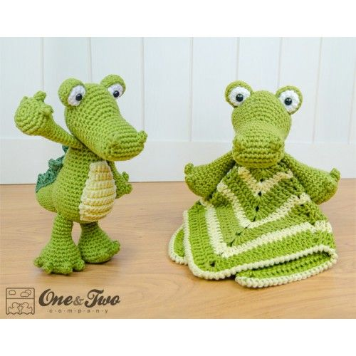 Crocodile Lovey and Amigurumi Crochet Patterns Pack by One and Two Company